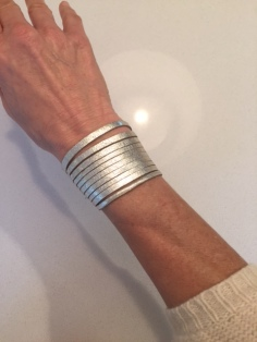 Snap on Leather Cuff